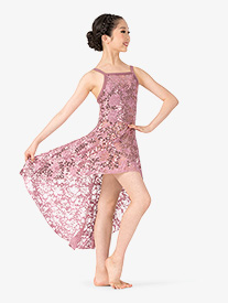 Girls Performance Sequin Lace Camisole Dress