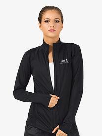 Womens Zip-Up Long Sleeve Dance Jacket