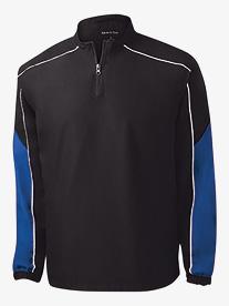 Contrast Colorblock Quarter Zip Wind Jacket