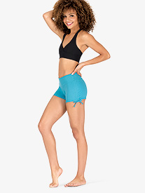 Womens Side Tie Athletic Shorts