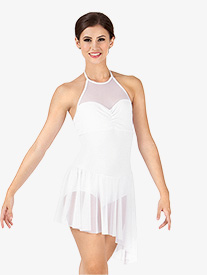 Adult Asymmetrical Mesh Halter Dress