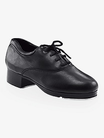 Womens Leather Lace Up Tap Shoes