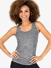 Womens Gathered Fitness Tank Top