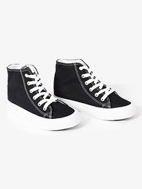 Girls Hi-Top Canvas Dance Sneaker