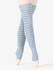 Adult Londrea Thigh High Striped Stirrup Legwarmers