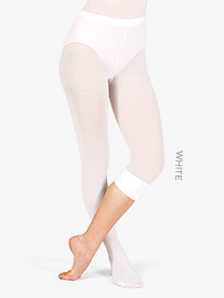 Adult Plus Size Convertible Tights with Smooth Self-Knit Waistband 3 Pack