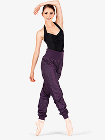 Adult High Waist Garbage Bag Dance Pants