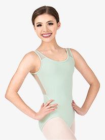 Girls Mesh Triangle Cutout Tank Leotard