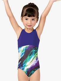 Girls Keyhole Back Tank Leotard
