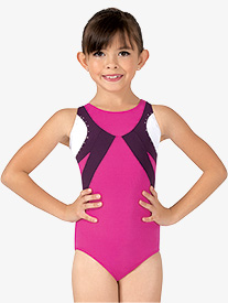 Girls Color Block Tank Leotard