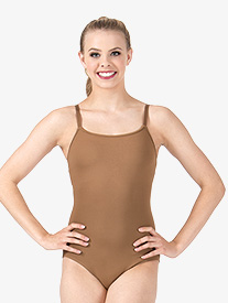 Womens Adjustable Camisole Leotard with Attached Bra