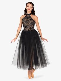 Womens Ballet Halter Romantic Tutu Dress