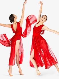 Womens Performance Sheer Mesh Tank Overdress
