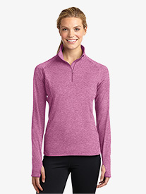 Ladies Plus 1/2 Zip Pullover Jacket