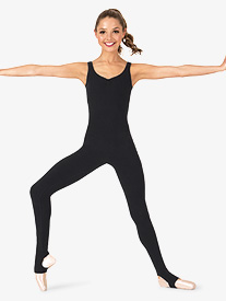 Adult Brushed Cotton Tank Stirrup Dance Unitard