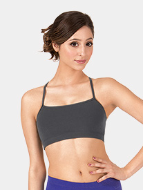 Adult Brushed Cotton X-Back Camisole Dance Bra Top