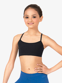 Girls Brushed Cotton X-Back Camisole Dance Bra Top