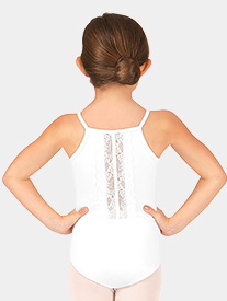 Girls Scalloped Lace Back Camisole Leotard