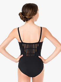 Womens Ladder Mesh Camisole Leotard