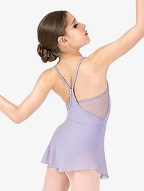 Girls Hologram Sequin Mesh Camisole Ballet Dress