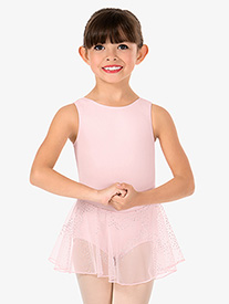 Girls Glitter Mesh Tank Ballet Dress