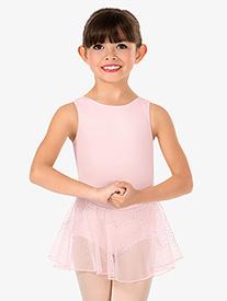 Girls Glitter Mesh Tank Ballet Dress