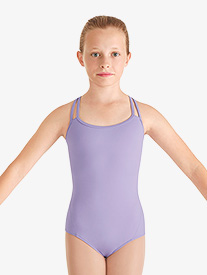 Girls Double Camisole Strap Leotard