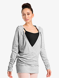 Womens Gathered Long Sleeves Warm Up Sweater