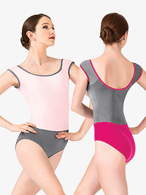 Asya Princess Seam Short Sleeve Leotard