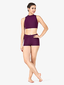 Womens Banded Dance Shorts