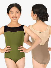 Girls Celine Mesh Back Tank Leotard
