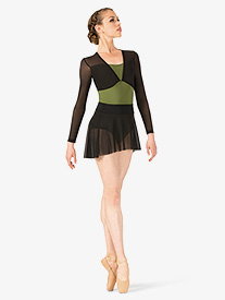 Womens Polina Mesh Pull On Ballet Skirt