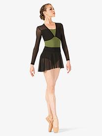 Womens Polina Mesh Pull On Ballet Skirt
