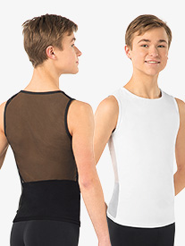 Mens Misha Mesh Back Tank Dance Top