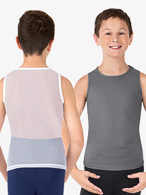 Boys Misha Mesh Back Tank Dance Top