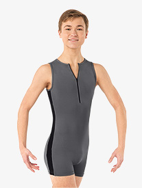 Mens Anton Two-Tone Tank Shorty Dance Unitard
