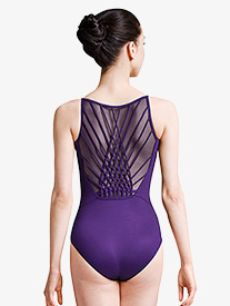 Womens Rouleaux Braided Weave Back Camisole Leotard