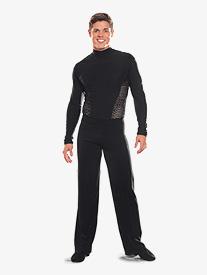 Mens Elastic Waist Ballroom Pants