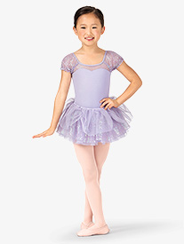 Child Sequin Gathered Ballet Tutu Skirt