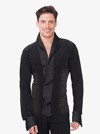 Mens Striped Side Ballroom Top