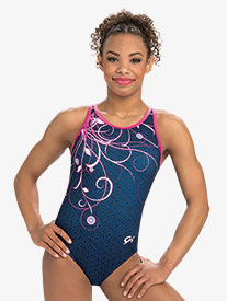 Girls Marvel Captain America Swirl Leotard