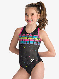 Girls Marvel Stars & Stripes Leotard