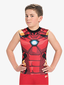 Boys/Mens Marvel Mighty Iron Man Compression Shirt