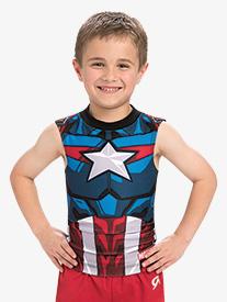 Boys/Mens Marvel Captain America Compression Shirt
