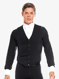 Mens Snap Closure Ballroom Vest