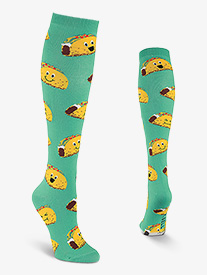 Womens Happy Tacos Knee High Socks
