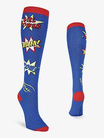 Womens Girl Power Knee High Socks