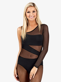 Adult Asymmetrical One Sleeve Spliced Leotard