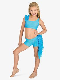 Child Mesh Ruffle Dance Shorts