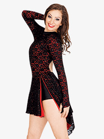 Adult Open Back Long Sleeve Lace Dress